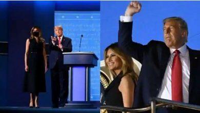 Photo of การเลือกตั้งประธานาธิบดีสหรัฐฯปี 2020 Melania Trump ปรากฏตัวต่อสาธารณะเป็นครั้งแรกนับตั้งแต่มีการติดเชื้อ COVID 19