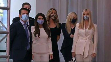 Photo of ในที่สุดครอบครัวโดนัลด์ทรัมป์ก็สวมหน้ากากระหว่างการอภิปรายหลักครั้งสุดท้าย |  การเลือกตั้งสหรัฐฯปี 2020: ในที่สุดครอบครัวทรัมป์ก็เข้าใจถึงความสำคัญของหน้ากาก