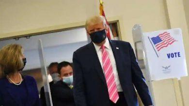 Photo of สวมหน้ากากประธานาธิบดีสหรัฐลงคะแนนในฟลอริดากล่าวว่า – 'ฉันโหวตให้ผู้ชายชื่อทรัมป์' |  การเลือกตั้งของสหรัฐฯ: ประธานาธิบดีทรัมป์ลงคะแนนในฟลอริดาซึ่งบอกว่าใครโหวต