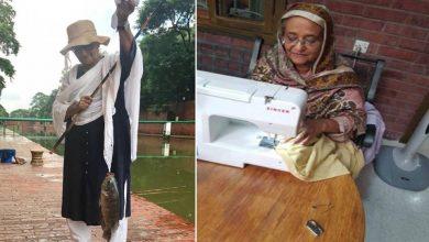 Photo of ภาพการตัดเย็บและการตกปลาของนายกรัฐมนตรีบังกลาเทศ Sheikh Hasina กำลังแพร่ระบาด |  Sheikh Hasina นายกรัฐมนตรีบังกลาเทศเห็นการพยายามใช้จักรเย็บผ้าภาพกลายเป็นไวรัล