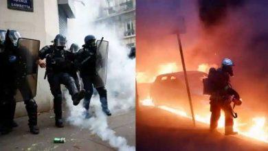 Photo of ผู้ประท้วงปะทะตำรวจในปารีสต่อต้านกฎหมายความมั่นคงฉบับใหม่ |  การปะทะกันอย่างรุนแรงระหว่างตำรวจและผู้ประท้วงในปารีสทุบหน้าต่างร้านค้าจุดไฟเผารถยนต์
