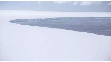 Photo of เครื่องบินเจ็ทของกองทัพอากาศบันทึกภาพของภูเขาน้ำแข็งที่ใหญ่ที่สุดในโลก  RAF ถ่ายภาพภูเขาน้ำแข็งที่ใหญ่ที่สุดในโลกห่างจากจอร์เจียใต้ 200 กิโลเมตร