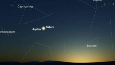 Photo of มุมมองที่น่าตื่นตาตื่นใจของดาวเสาร์ดาวพุธดาวพุธร่วมกันสามดวงจะเห็นพร้อมกันบนท้องฟ้า |  Triple Conjunction: มุมมองที่น่าตื่นตาตื่นใจของทั้งสามดวงของดาวพุธดาวพฤหัสบดีและดาวเสาร์บนท้องฟ้า