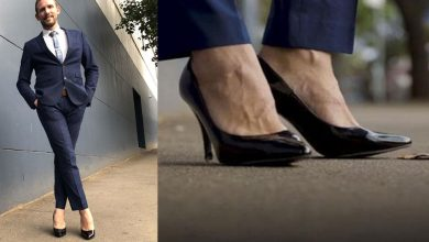 Photo of ชายคนหนึ่งไปออฟฟิศโดยสวมรองเท้าส้นสูงใส่สูทในออสเตรเลีย |  คนนี้ไปออฟฟิศโดยใส่ส้นสูง 6 นิ้วเพราะคุณจะประหลาดใจเช่นกัน