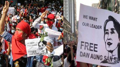 Photo of บริการอินเทอร์เน็ตในพม่าหลายพันคนชุมนุมต่อต้านการรัฐประหารของกองทัพรู้อัปเดตอองซานซูจี |  Myanmar Coup: บริการอินเทอร์เน็ตได้รับการฟื้นฟู แต่การประท้วงต่อต้านกองทัพยังคงดำเนินต่อไปโดยเรียกร้องให้ปล่อยตัวอองซานซูจี