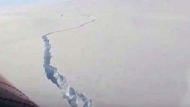 Photo of ภูเขาน้ำแข็งขนาดใหญ่เกี่ยวกับขนาดของลอนดอนที่ใหญ่กว่าแตกที่แอนตาร์กติการายละเอียดจากการสำรวจแอนตาร์กติกของอังกฤษ |  แจ้งเตือนภาวะโลกร้อน!  ภูเขาน้ำแข็งที่แตกหักของแอนตาร์กติกามีขนาดเท่ากับมหานครลอนดอน
