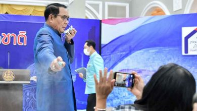 Photo of นายกฯ ประยุทธ์จันทร์โอชาพ่นน้ำยาฆ่าเชื้อให้ผู้สื่อข่าว |  เจอคำถามนายกฯ ไทยพ่นน้ำยาฆ่าเชื้อใส่นักข่าว